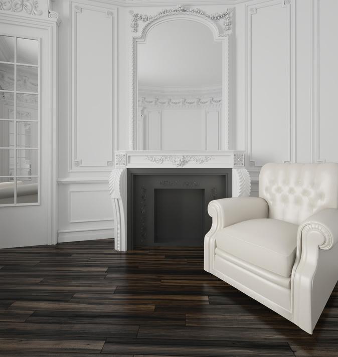 Classic white living room interior