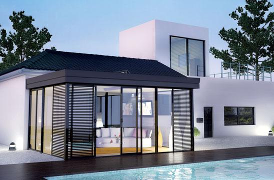 veranda en aluminium-veranda-rideau